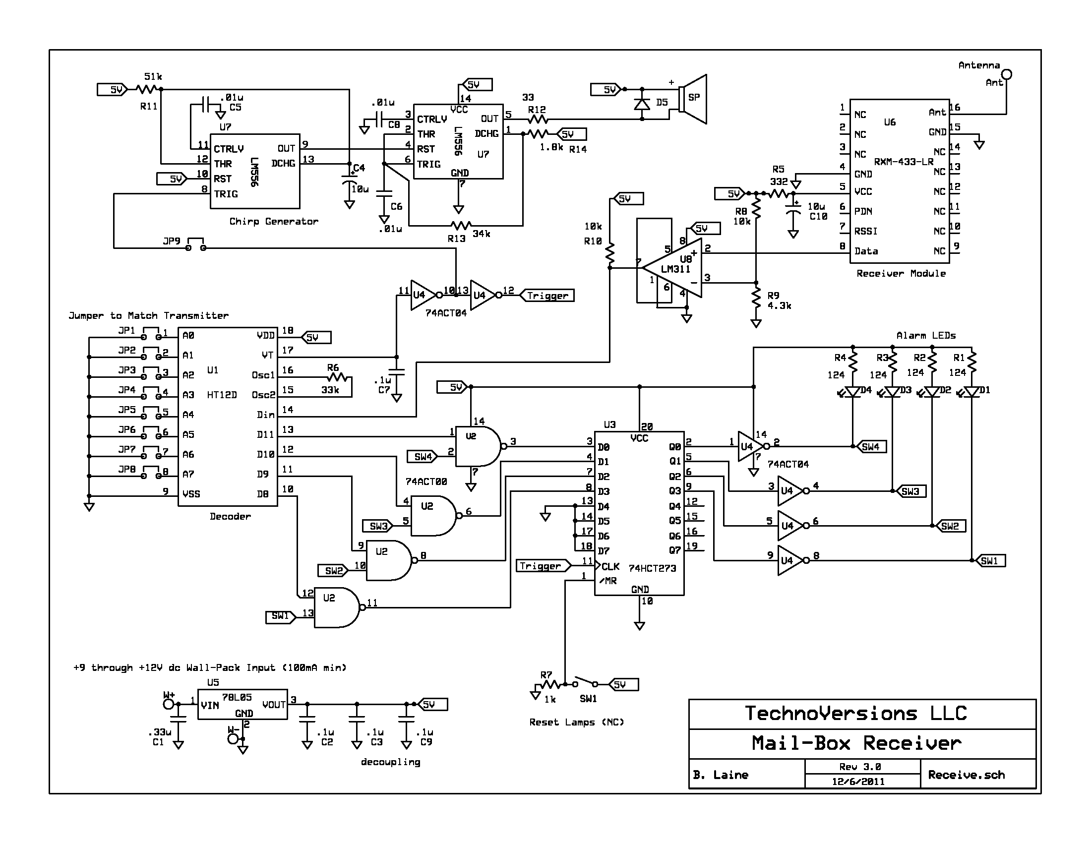 Mailbox Receiver Schematic